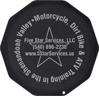 Motorcycle Coasters®, motorcycle kickstand pad, motorcycle kickstand plate, puck, solid artistic, side stand support, side stand pad, coaster, custom imprint, motorcycle
